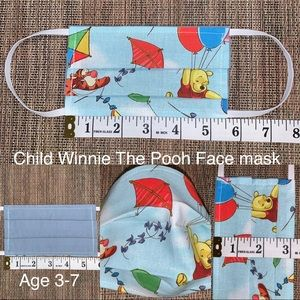 Child 3-7 Disney Winnie The Pooh fabric face mask